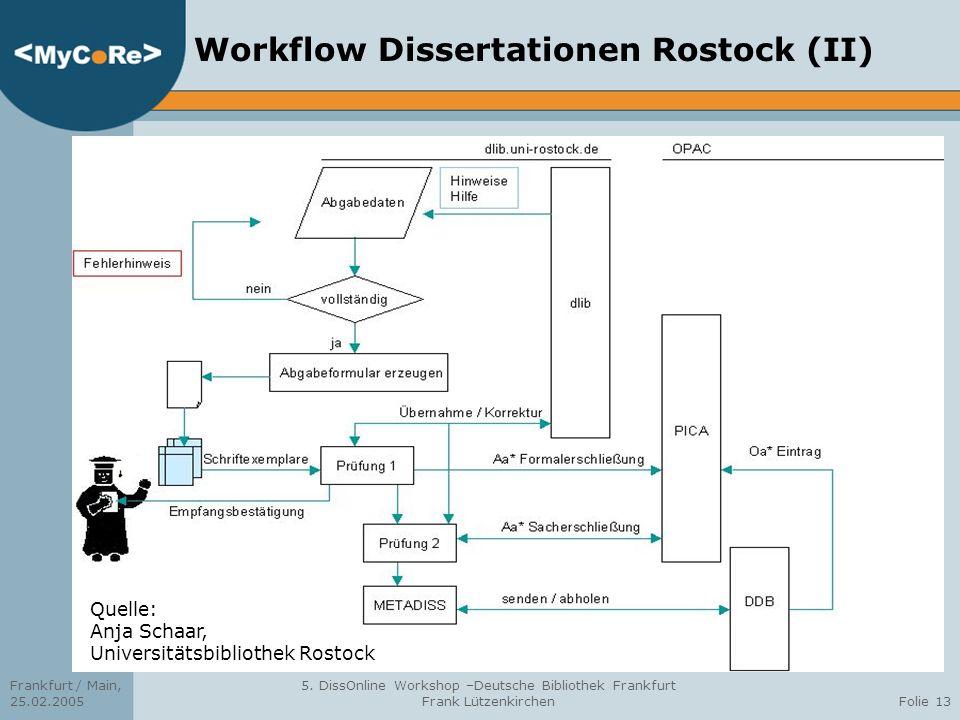 Workflow Dissertationen Rostock (II)