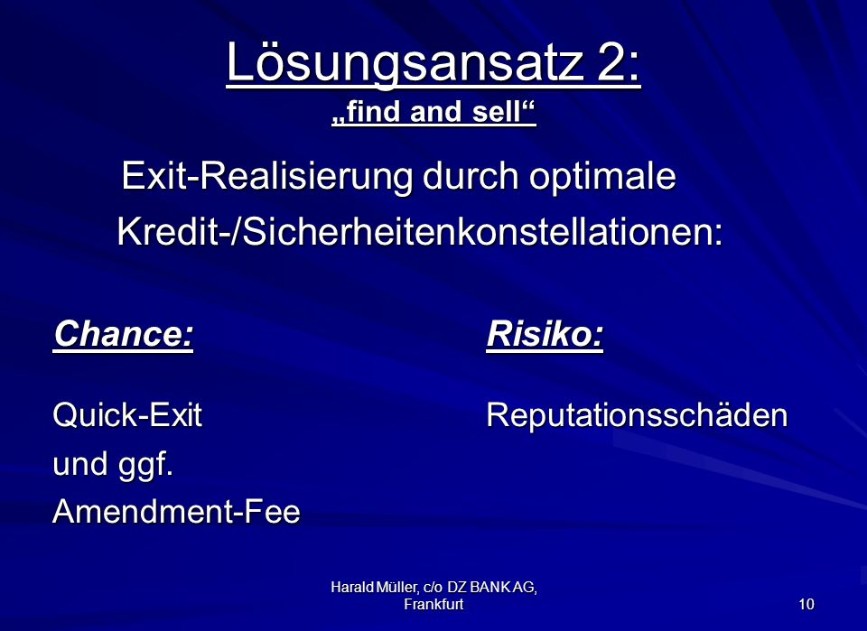 "Lösungsansatz 2: ""find and sell"