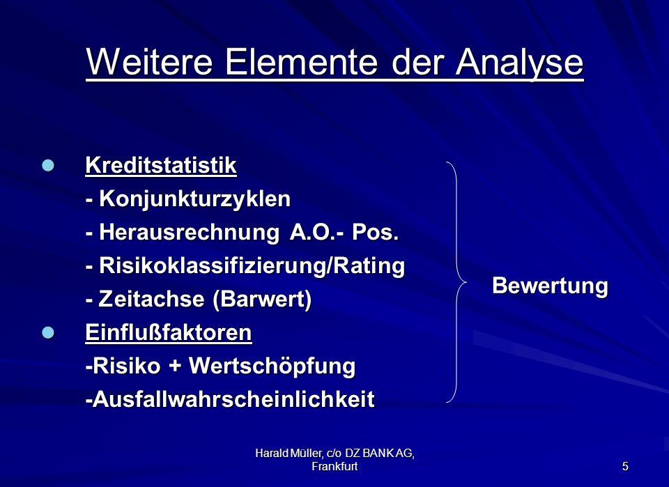 Weitere Elemente der Analyse