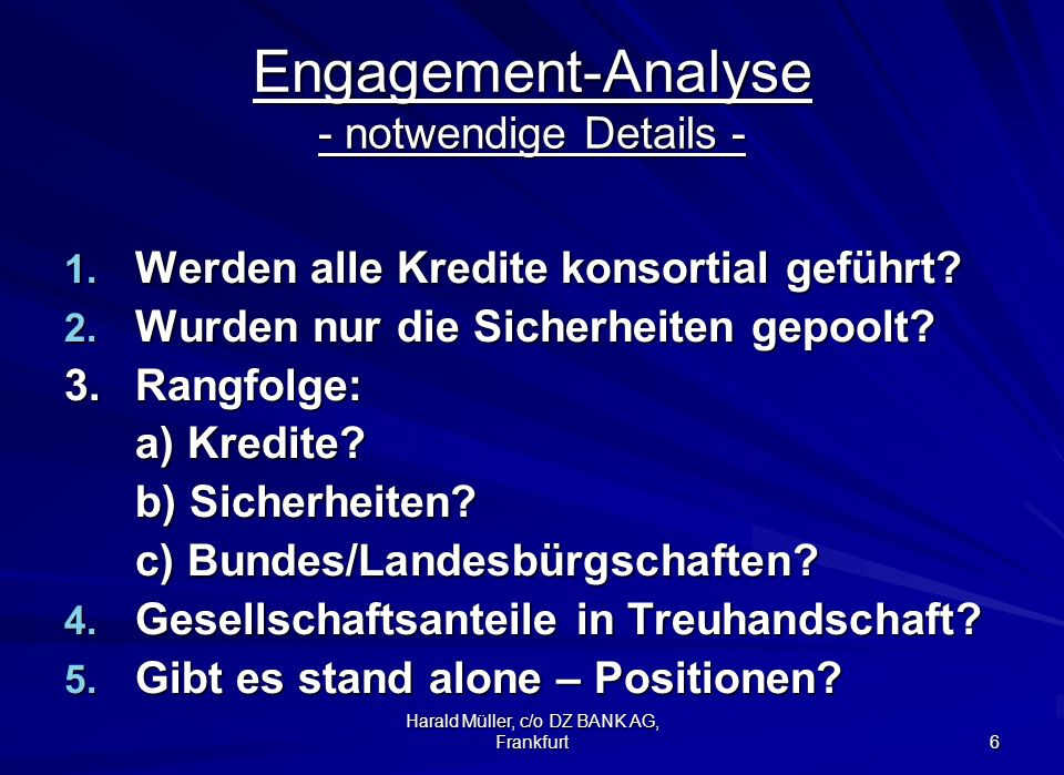 Engagement-Analyse - notwendige Details -