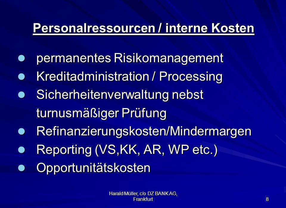 Personalressourcen / interne Kosten