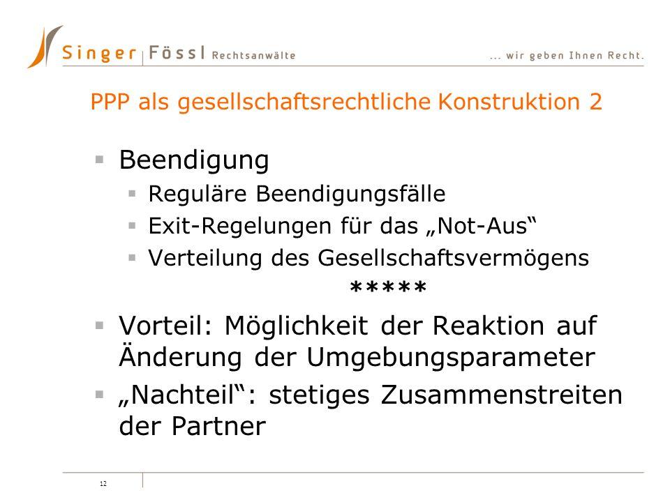 PPP als gesellschaftsrechtliche Konstruktion 2