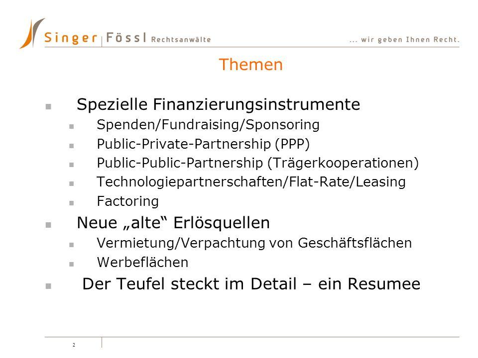 Spezielle Finanzierungsinstrumente