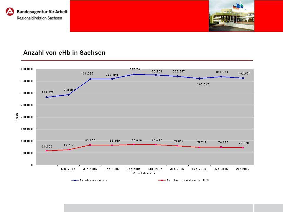 Zugang zu ausgewählten Fordermaßnahmen in Sachsen