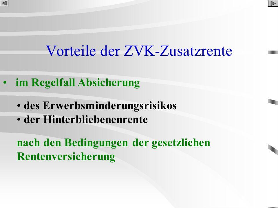 Vorteile der ZVK-Zusatzrente