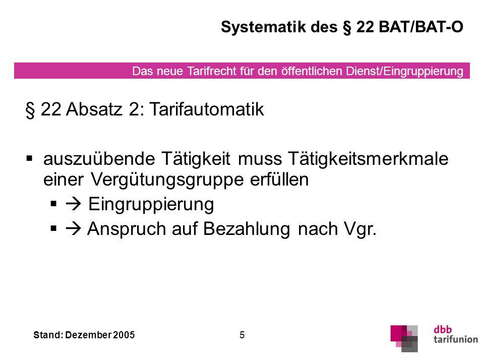 § 22 Absatz 2: Tarifautomatik