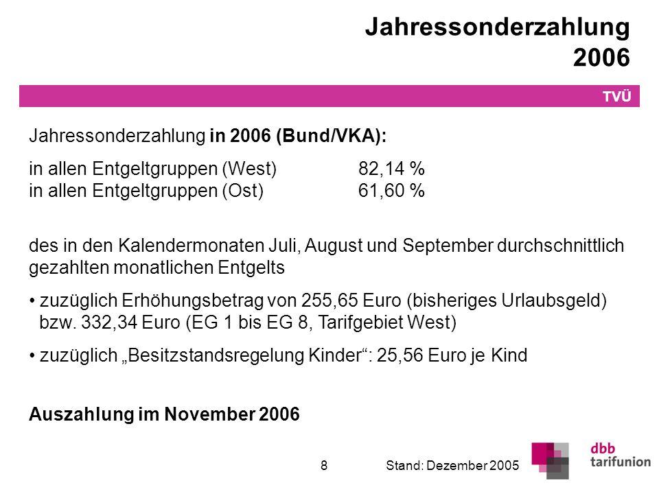 Jahressonderzahlung ab 2007