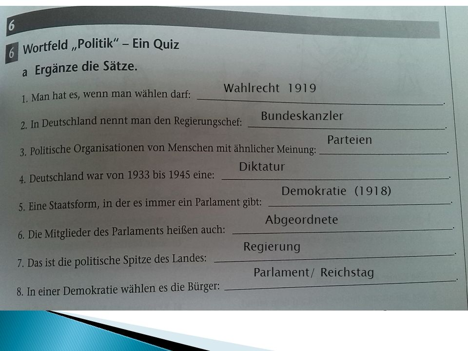Wahlrecht 1919 Bundeskanzler. Parteien. Diktatur.