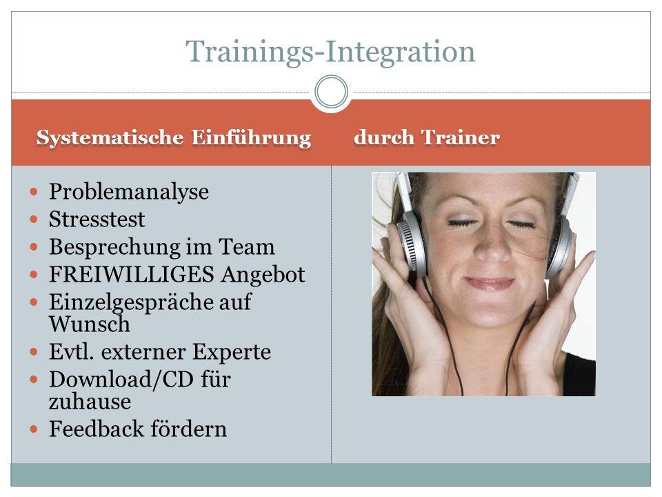 Trainings-Integration