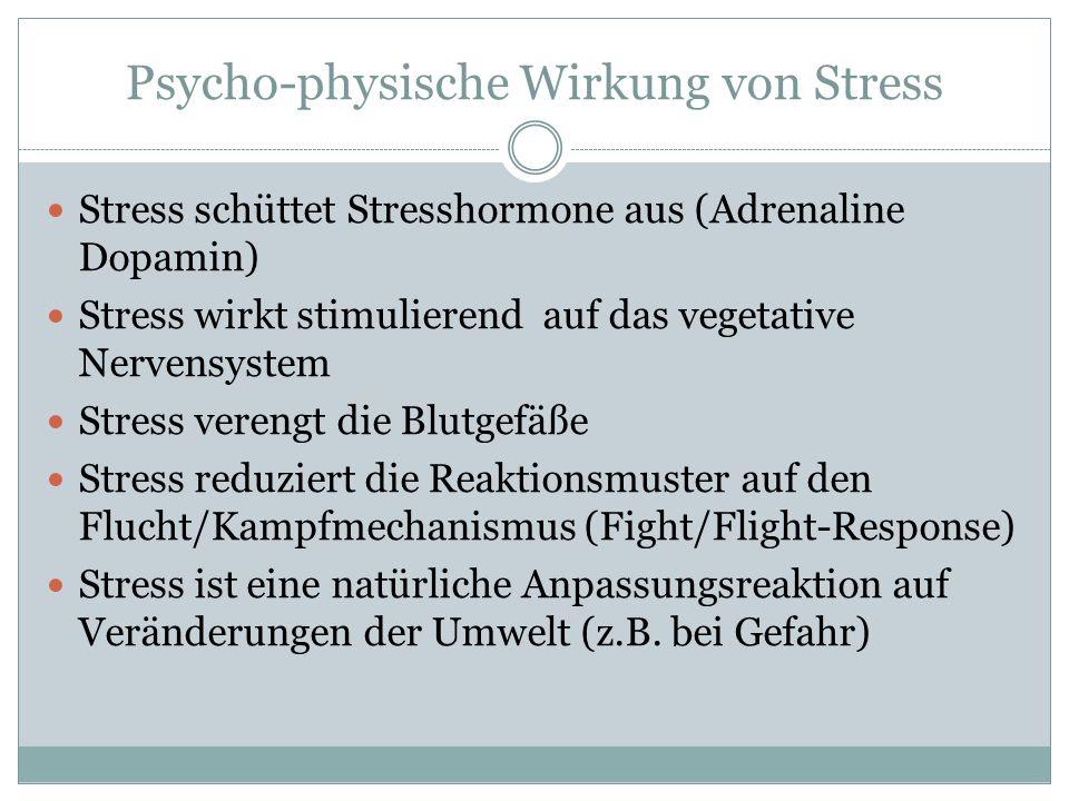 Psycho-physische Wirkung von Stress