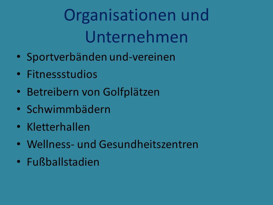 Organisationen und Unternehmen