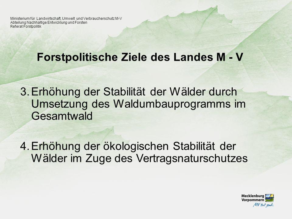 Forstpolitische Ziele des Landes M - V