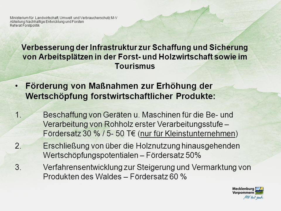 Ministerium für Landwirtschaft, Umwelt und Verbraucherschutz M-V
