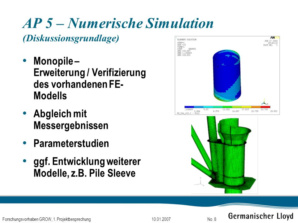 AP 5 – Numerische Simulation (Diskussionsgrundlage)