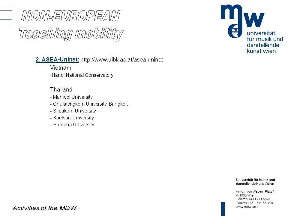 NON-EUROPEAN Teaching mobility