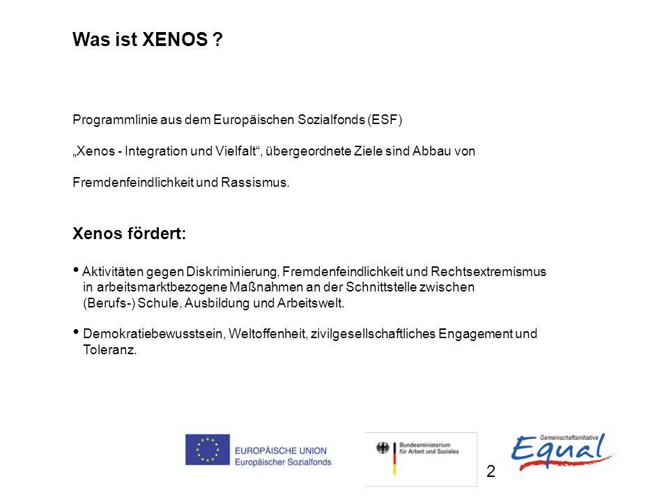 Was ist XENOS Xenos fördert: