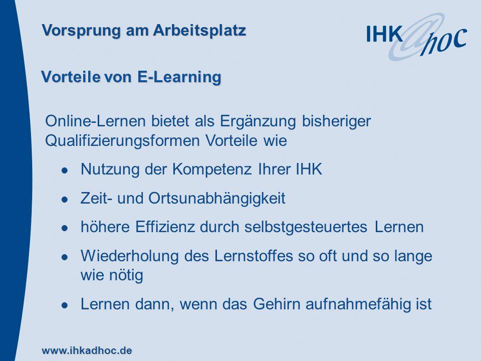 Vorteile von E-Learning