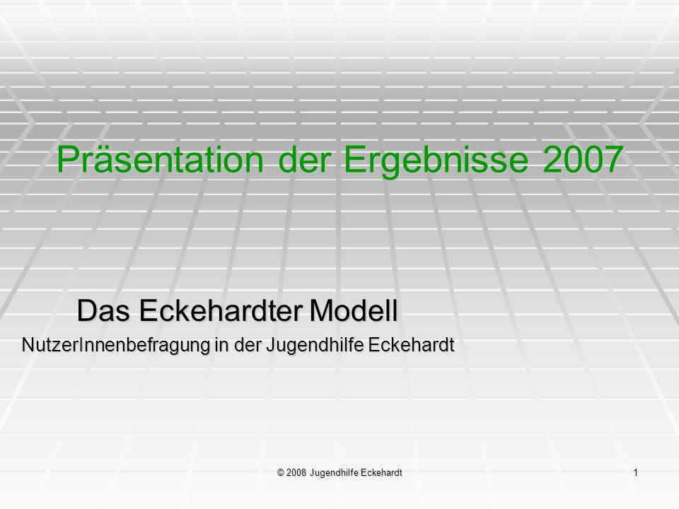 Präsentation der Ergebnisse 2007