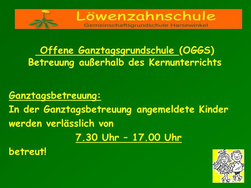 Offene Ganztagsgrundschule (OGGS) Betreuung außerhalb des Kernunterrichts