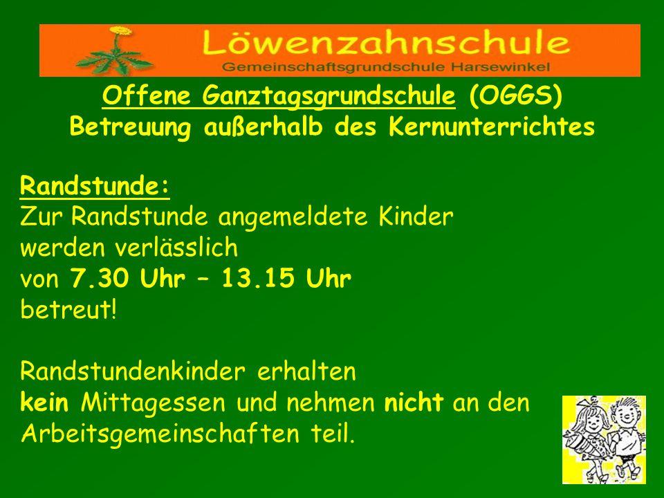 Offene Ganztagsgrundschule (OGGS) Betreuung außerhalb des Kernunterrichtes