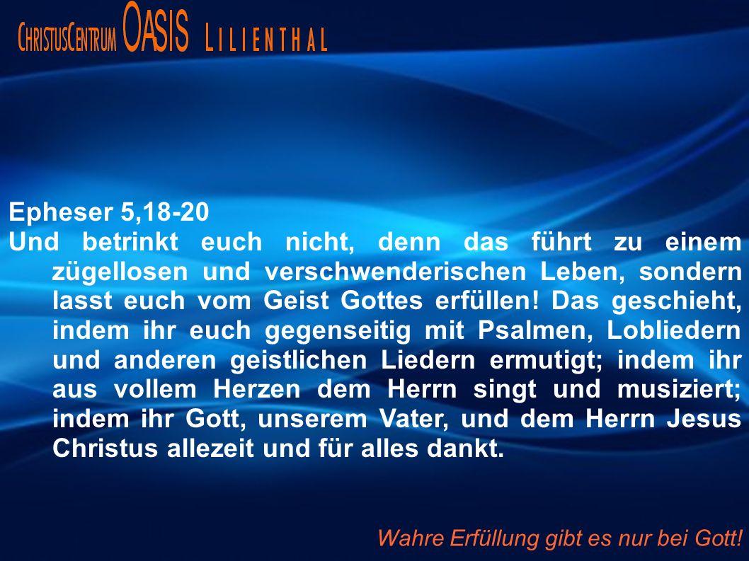 Epheser 5,18-20