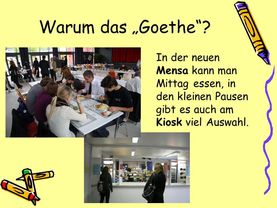 """Warum das """"Goethe ."""