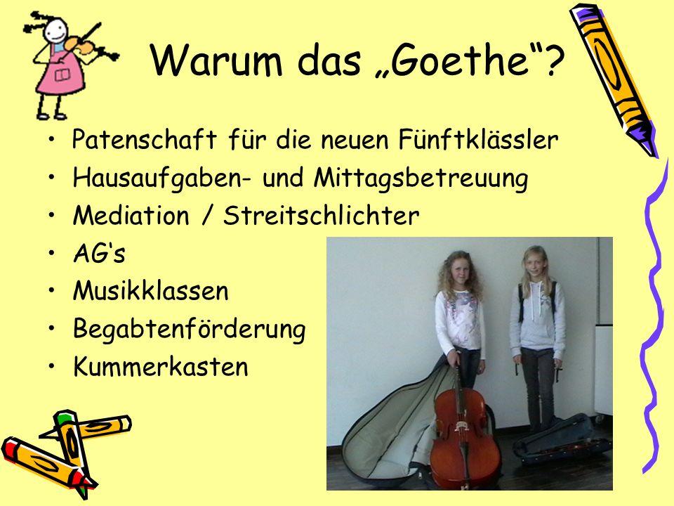 """Warum das """"Goethe Patenschaft für die neuen Fünftklässler"""