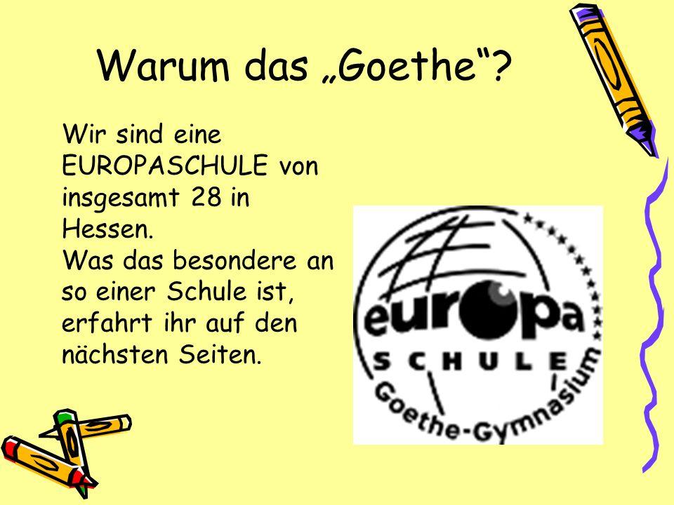 """Warum das """"Goethe"""