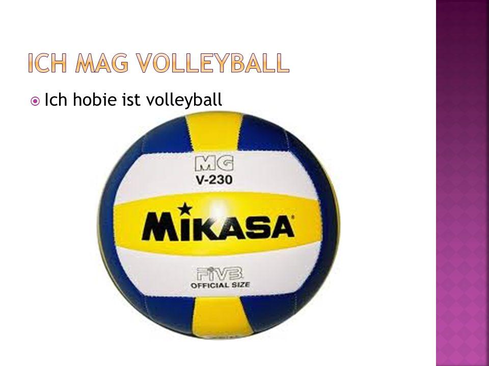 Ich mag Volleyball Ich hobie ist volleyball