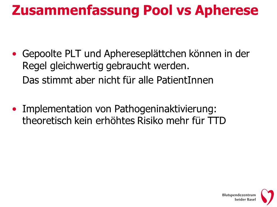 Zusammenfassung Pool vs Apherese