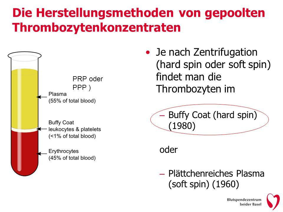 Die Herstellungsmethoden von gepoolten Thrombozytenkonzentraten