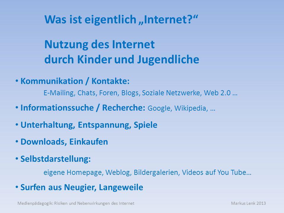 """Was ist eigentlich """"Internet"""