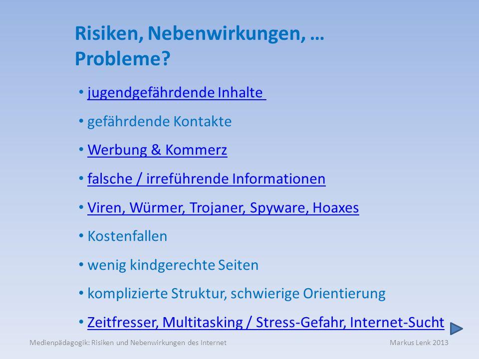 Risiken, Nebenwirkungen, … Probleme