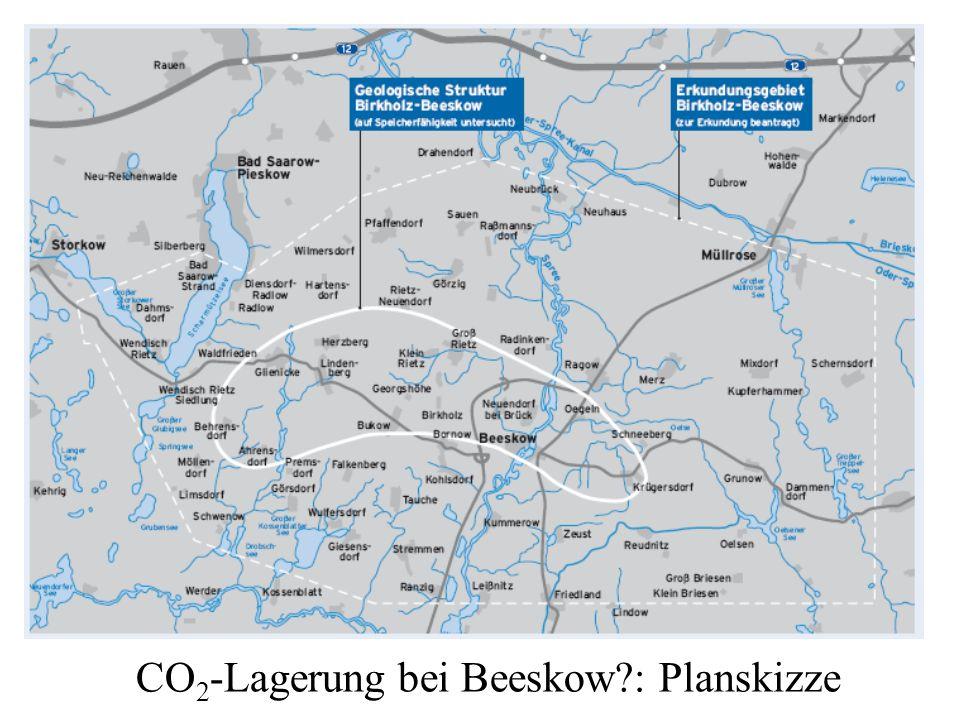 CO2-Lagerung bei Beeskow : Planskizze