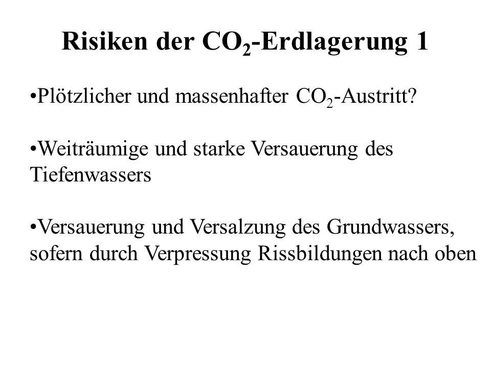 Risiken der CO2-Erdlagerung 1