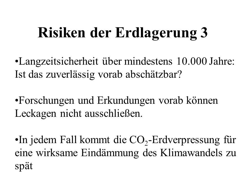 Risiken der Erdlagerung 3