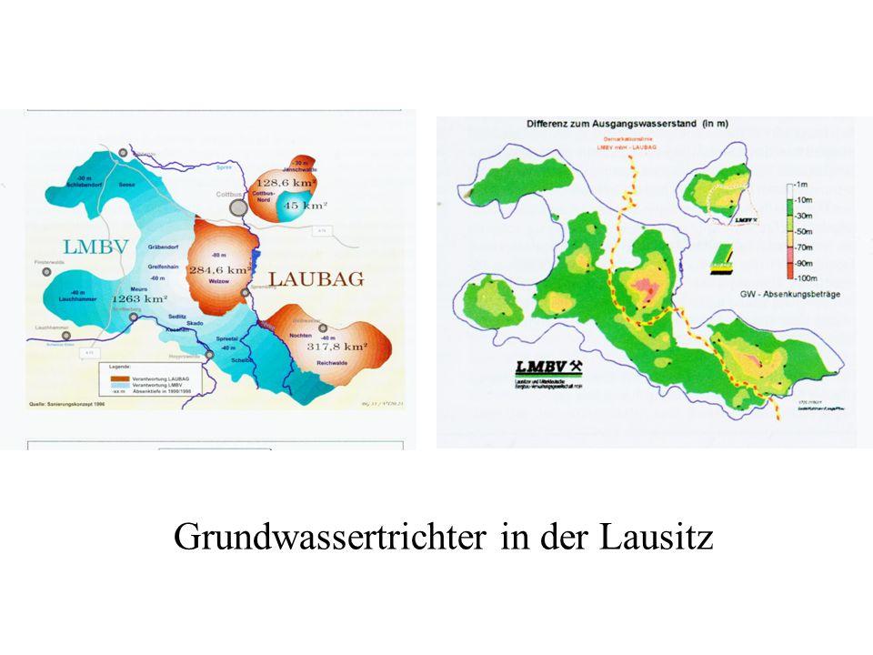 Grundwassertrichter in der Lausitz