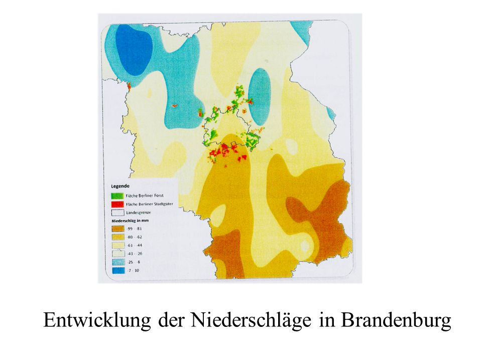 Entwicklung der Niederschläge in Brandenburg