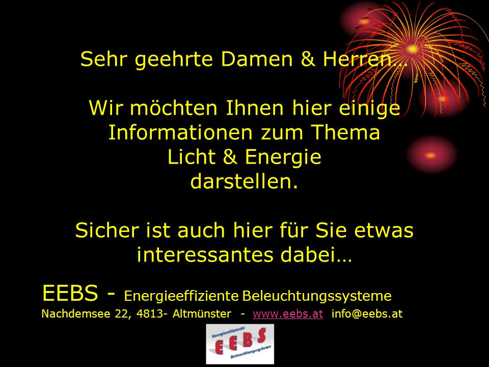 EEBS - Energieeffiziente Beleuchtungssysteme