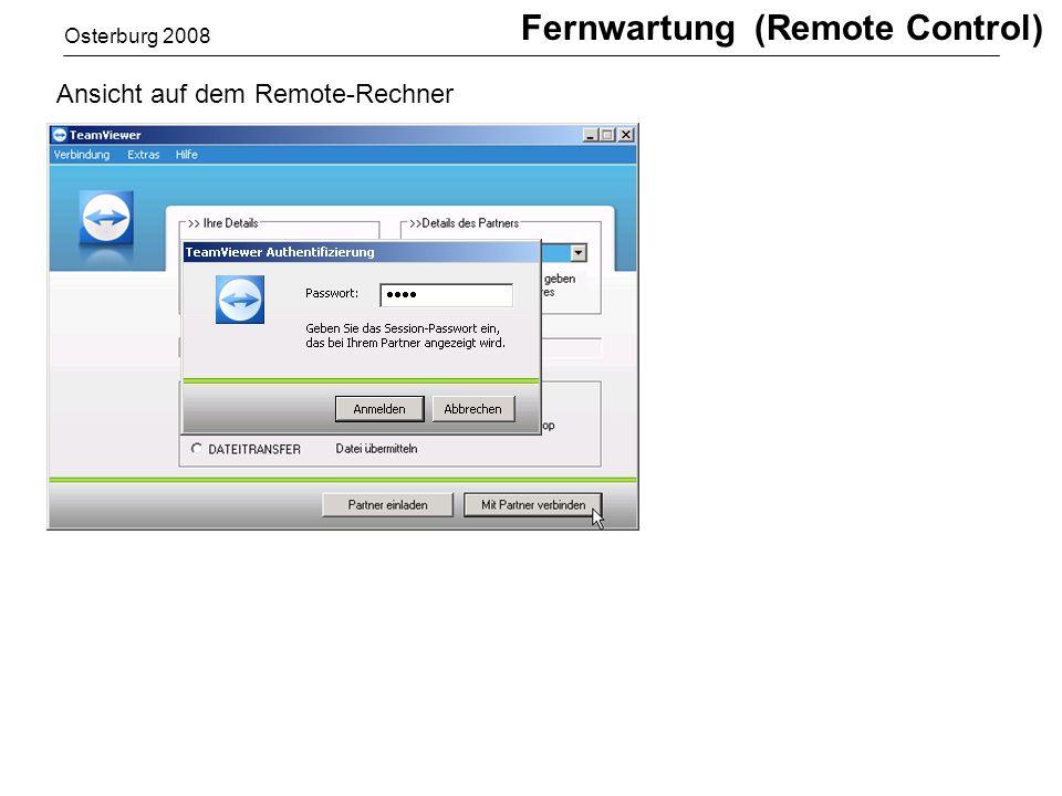 Fernwartung (Remote Control)