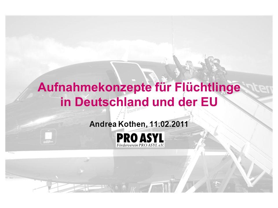 Aufnahmekonzepte für Flüchtlinge in Deutschland und der EU