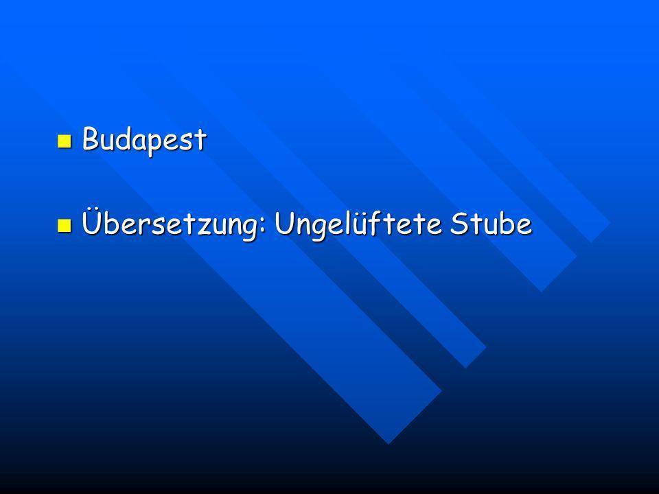 Budapest Übersetzung: Ungelüftete Stube