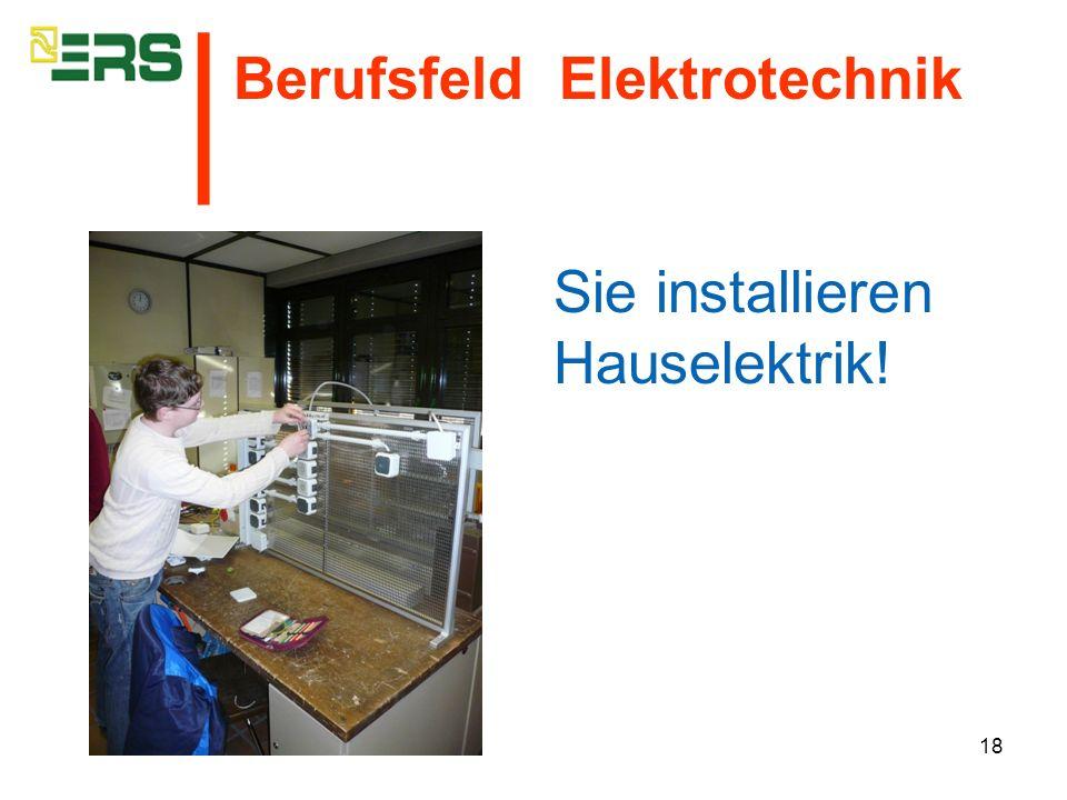 Sie installieren Hauselektrik!