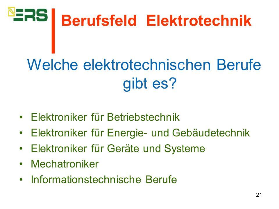 Welche elektrotechnischen Berufe gibt es