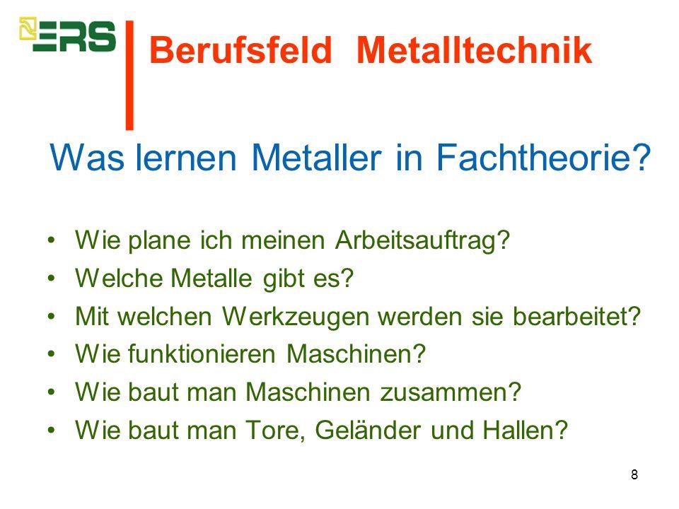 Was lernen Metaller in Fachtheorie