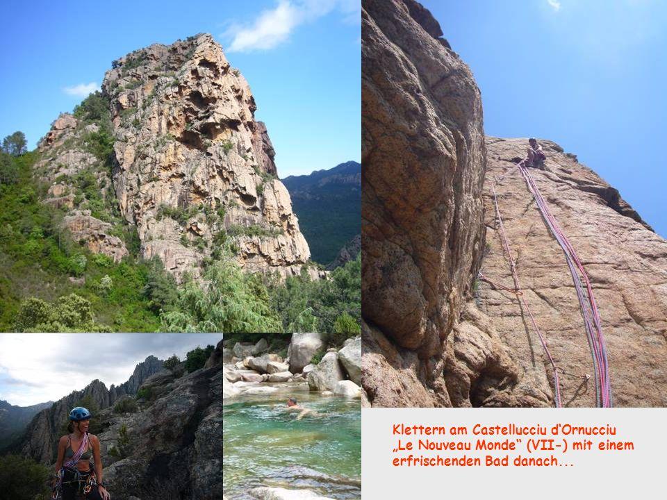 Klettern am Castellucciu d'Ornucciu