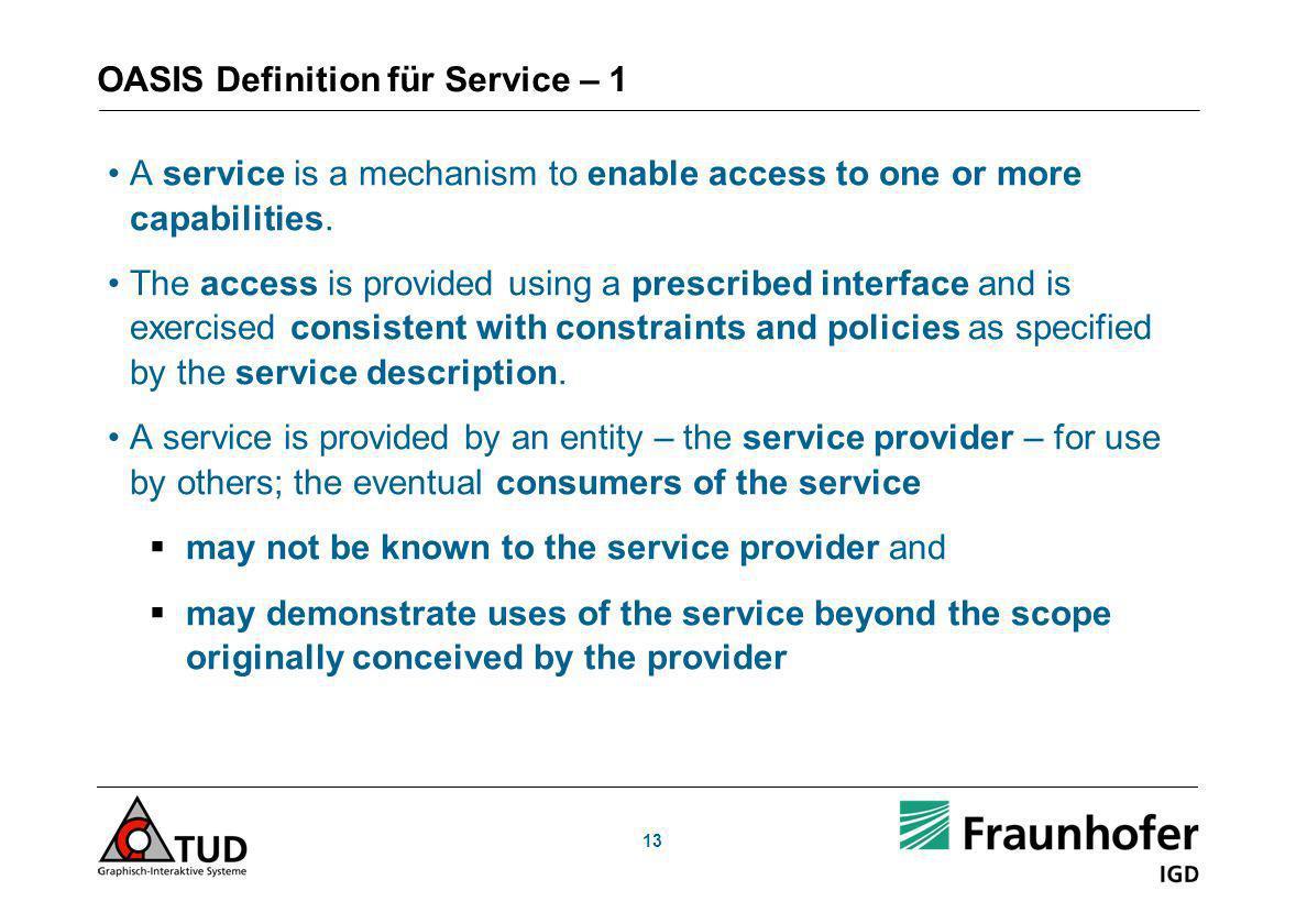 OASIS Definition für Service – 1