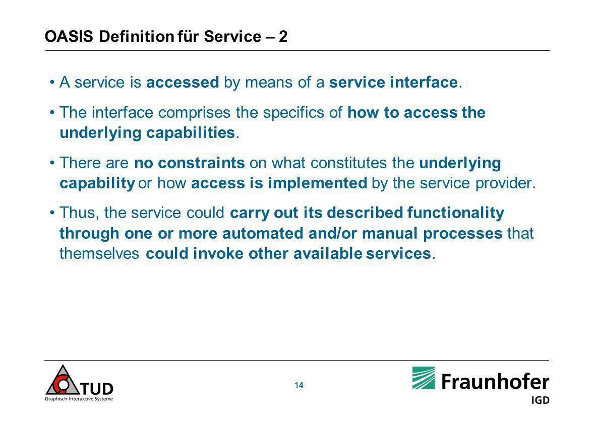 OASIS Definition für Service – 2