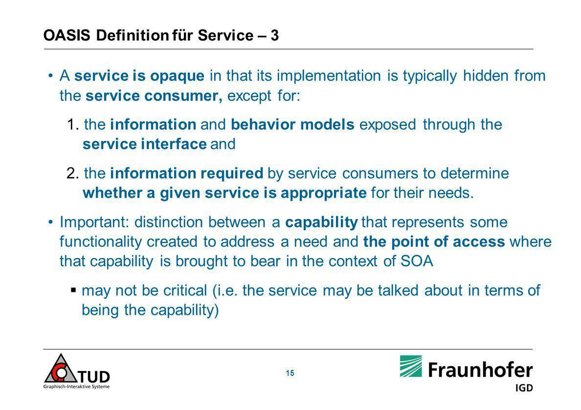 OASIS Definition für Service – 3