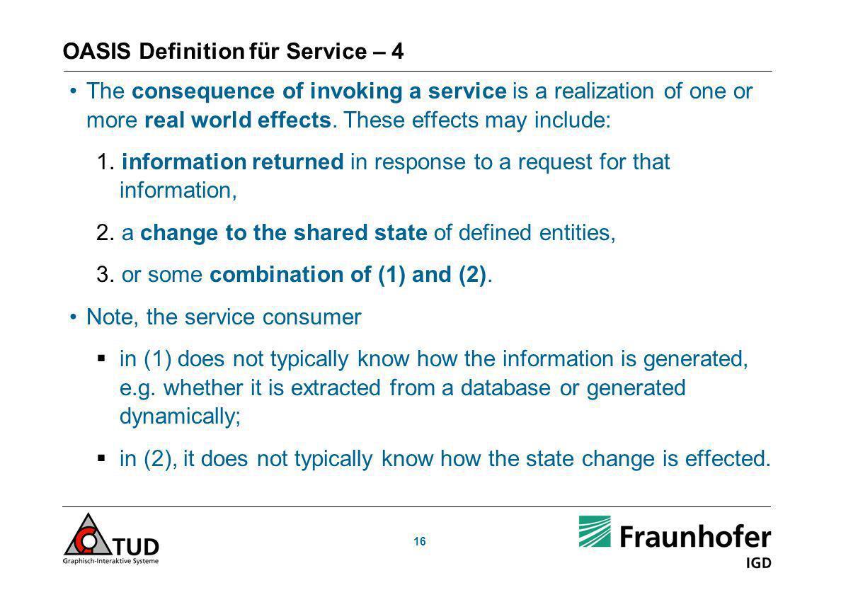 OASIS Definition für Service – 4